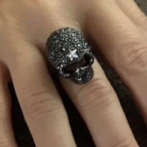 Skull Crystal Ring